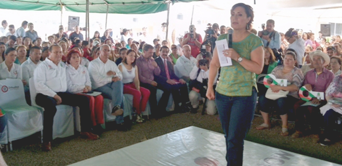 Rosario Robles en Parral: panegirista de Duarte
