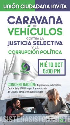Unión Ciudadana invita a una caravana de vehículos hoy