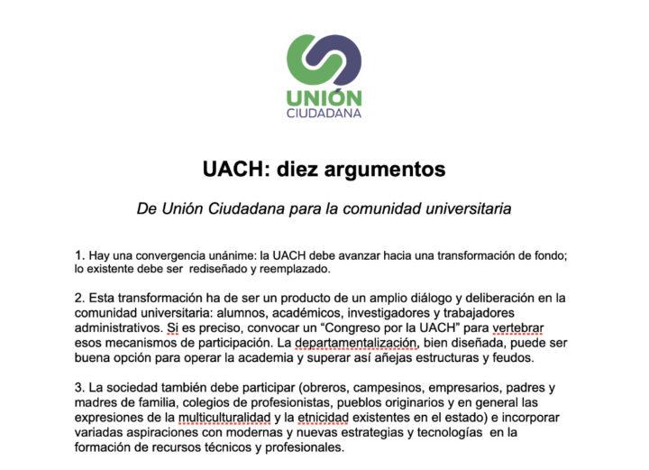 UACH: diez argumentos