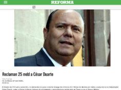 Caso Duarte: si se quiere informar, lea periódicos de la CDMX