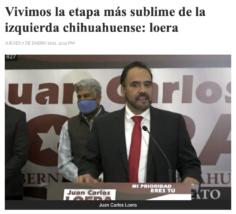 """Juan Carlos Loera, """"el sublime"""""""