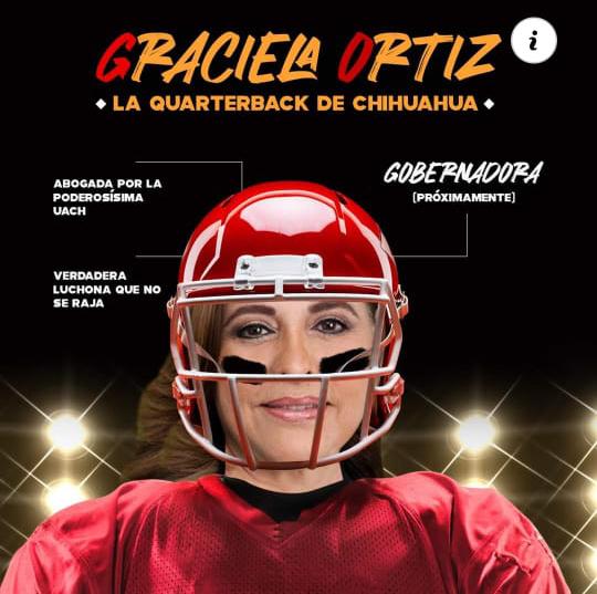 Graciela Ortiz, en prevención de pedradas se pone casco