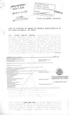 Amparo para llevar a César Duarte a la cárcel