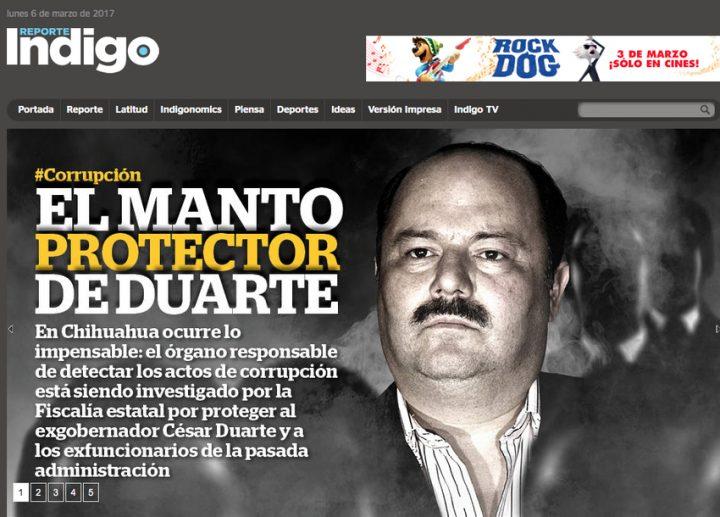 Corrupción de Duarte en reportes del gobierno estadunidense
