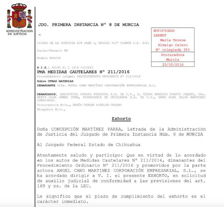 La justicia española busca a César Duarte y esposa